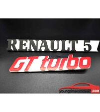 2 Monogrammes : RENAULT 5  + GT TURBO LOGO EMBLÈME BADGE