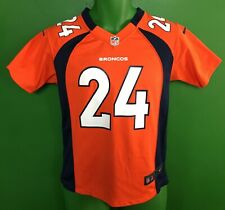 J578/225 NFL Denver Broncos Champ Bailey #24 Nike Game Jersey Youth Medium 10-12