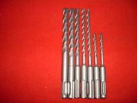 SDS+ PLUS Bohrer Hammerbohrer Betonbohrer Stein Set 8tlg 5-12mm x 110/160/210mm