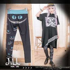 american street cartoon alice cheshire cat silhouette leotard tights J1M2031