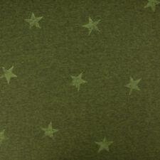 Sweatstoff Jogging Sterne grün Meliert 1 40m