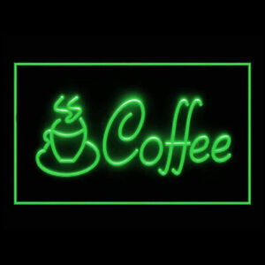 110117 Coffee Cup Shop Cappuccino Extra Shot Display LED Light Neon Sign