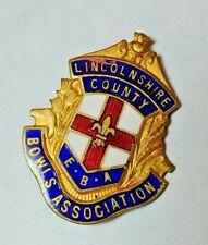 1930's British Lincolnshire County EBA Bowles Association Cricket Enamel Badge