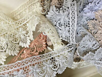 """~Bows Ribbon and Lace~ 3 Metres x 55mm/2.25"""" Stunning Guipure Lace Trimming"""