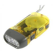 3 LED Dynamo Wind Up Flashlight Torch Light Hand Press Crank NR Camping M7D9