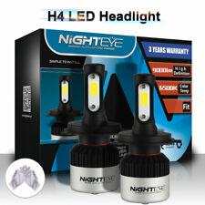 Nighteye H4 LED Headlight Kit Hi/Lo Beam Globe Bulb 72W 9000LM 6500K With Gloves
