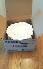 "8"" White Paper Doilies NIB 1000 Brooklace restaurant crafts wedding French Lace"
