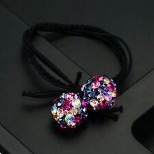 Hair Rope Wrap use Swarovski Crystal Ball Hairpin Ponytail Holder Multi Color
