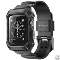 Supcase Rugged Protective Case with Strap Bands For 42 mm Apple Watch Black