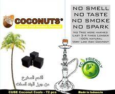 120pc 100% Natural Hookah Charcoal Coconut Hooka Shisha Coco Coal Nara Incense