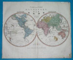 1844 ORIGINAL MAP TEXAS REPUBLIC CALIFORNIA UNITED STATES NORTH AMERICA WORLD