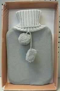 1.8 LITRE QUALITY HOT WATER BOTTLE WITH KNITTED COVER BY KIRKTON HOUSE