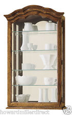 Howard Miller 685-102 Vancouver ll - Oak Wall Display Curio Case