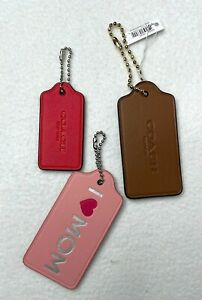 SET OF 3 NEW LEATHER COACH HANG TAGS