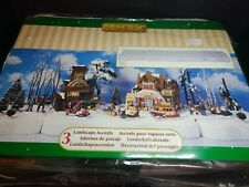 Lemax Christmas village Platform Snow display For Dept 56 Houses 3 Pc Set New