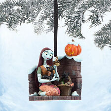 2014 Nightmare Before Christmas SALLY CAT Pumpkin Holiday Ornament Disney Store