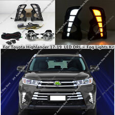 For Toyota Highlander 2017-2019 LED DRL Daytime Running Fog Lights k Harness Kit