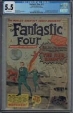 CGC 5.5 FANTASTIC FOUR #13 1ST APPEARANCE OF THE WATCHER AND RED GHOST OW PAGES