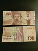 BILLETE DE  Indonesia 5000 Rupiah 2016 Pick 156a   SIN CIRCULAR