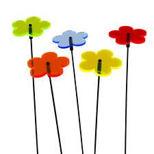 5 Stück SUNPLAY Sonnenfänger Ø5cm Suncatcher Gartenstecker Blumen FARBMIX
