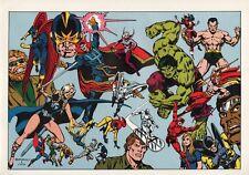 Vintage 1978 DEFENDERS Pin up Poster Marvel Comics