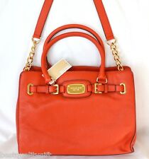 NEW-MICHAEL KORS HAMILTON MANDARIN ORANGE LEATHER TOTE HAND,SHOULDER BAG PURSE