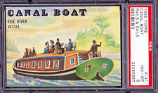 """1955 Topps Rails and Sails 141 """"Canal Boat"""".  PSA 8 NMMT.  (TX43845)."""