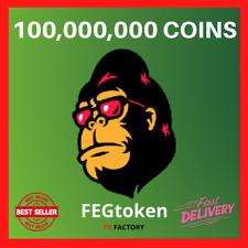 🐵 100,000,000 FEGTOKEN COINS 100 MILLION FEG TOKEN - MINING CONTRACT CRYPTO 🐵
