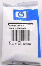 HP 63 Color Setup Ink Cartridge N9J06A New Genuine