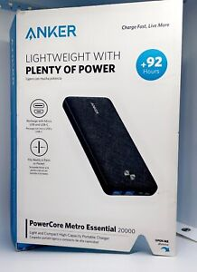 Anker Lightweight with Plenty of power PowerCore Metro Essential 20000