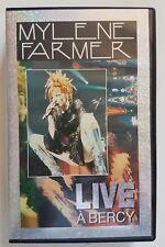 VHS MYLENE FARMER LIVE A BERCY 1er pressage hologramme RARE