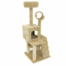 "Deluxe 52"" Cat Tree Tower Condo Scratcher Furniture Kitten House Hammock"