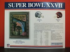 Willabee Ward Official NFL SUPER BOWL XXVII Patch and Card COWBOYS BILLS