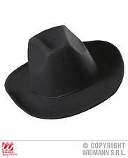 COWBOY COWGIRL Película Oeste Sombrero Negro, Cepillado fieltro 2899