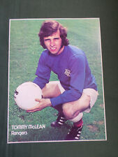 TOMMY MCLEAN - RANGERS -1 PAGE PICTURE -CLIPPING /CUTTING
