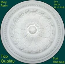 Lightweight Resin Ceiling Rose Strong Not Polystyrene Easy Fix Design 39cm