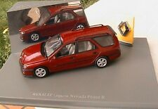 RENAULT LAGUNA BREAK NEVADA ROUGE PHASE 2 UNIVERSAL HOBBIES 1/43 RED STATION SW