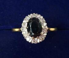 Beautiful 18ct gold 1.25ct Sapphire and Diamond cluster ring