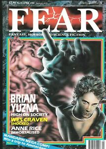 FEAR # 16 HORROR FILM MAGAZINE UK 1990 BRIAN YUZNA HIGH SOCIETY WES CRAVEN RICE