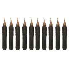 10x Black Electronic LED Taper Candle for Church Birthday Wedding Decoration