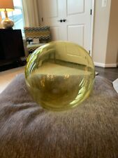 Fisherman's Glass Ball Float Yellow, 7 Inches