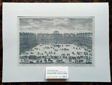 XVII ème - Paris IV ème - Belle Gravure La Place Royale à Paris Editée en 1670