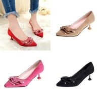 Women's Ruffle Rhinestone Kitten Heels Synthetic Suede Casual Pointed Toe Shoes