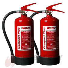 NEW x2 - 3 LTR WATER FIRE EXTINGUISHER, HOME/OFFICE