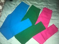 139 Lot of 3 Korean Women's Fashion Colorful Straight Pants1