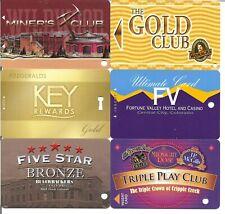 casino slot player cards -Colorado casinos group 1- 6 casinos