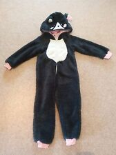 Brand new John Lewis girls' cat one piece - sparkly black, size 3 yrs, RRP £25