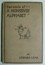 Nonsense Alphabet ABC Books, A B C, Children's Books, A B C, Edward Lear, nonsense