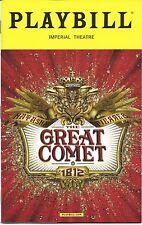 JOSH GROBAN Broadway Playbill NATASHA, PIERRE & THE GREAT COMET OF 1812