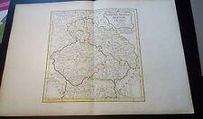 Alt-Grenzkolorierte Karte von Böhmen, Schlesien, Mähren, Lausitz v. R. Vaugondy